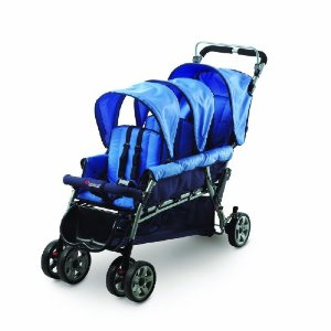 Foundations Trio Triple Tandem Stroller, Blue Review
